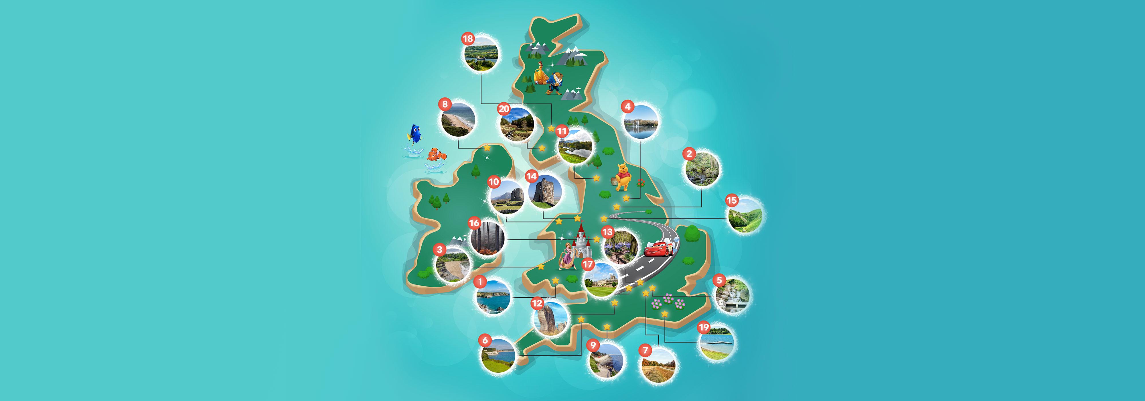 Disney Picnic Map Infographic Header